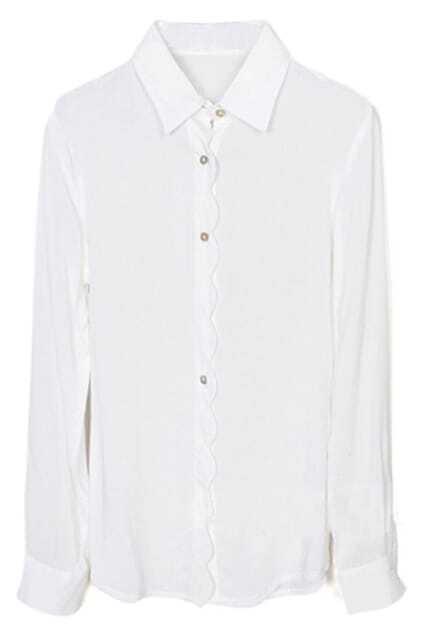 Wavy White Shirt