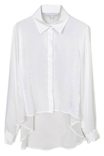 White Semitransparent Shirt