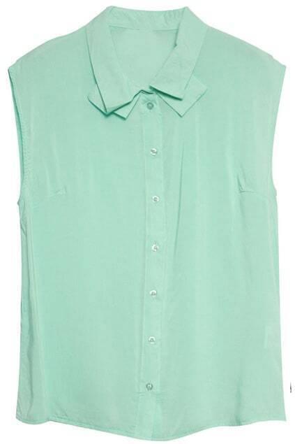Sleeveless Mint-Green Shirt