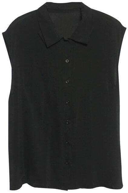 Sleeveless Black Shirt