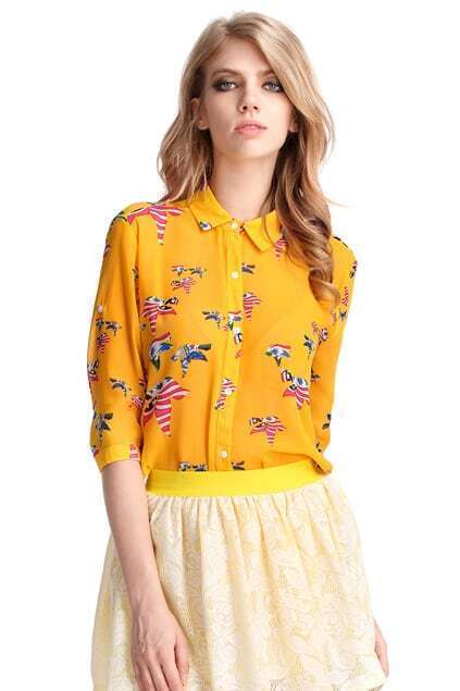 Yellow Flying Bird Blouse