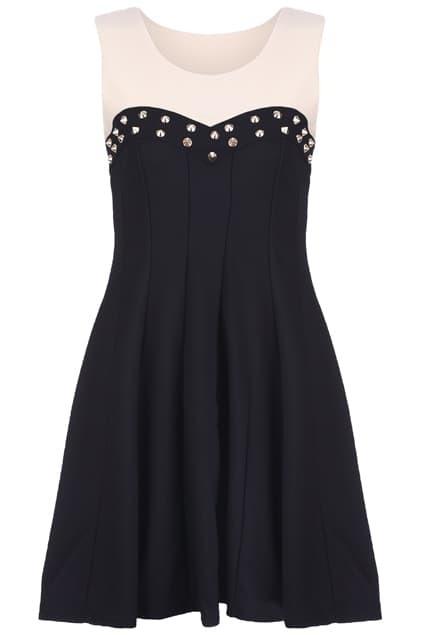 Riveted Main Black Dress