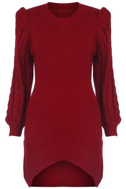 Asymmetric Magyar Red Dress