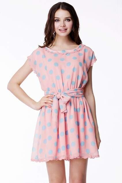 Polka Dots Pink Dress