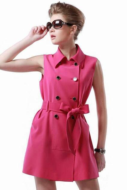 Double Dreasted Rose Dress
