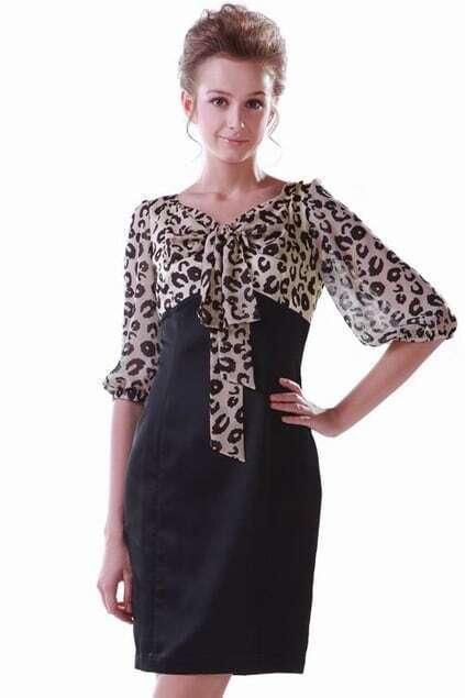Leopard Montage Dress