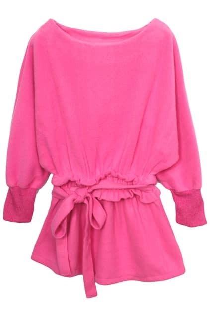 A-line Pink Autumn Dress