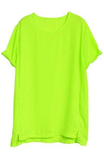 Opaque Chiffon Green Dress