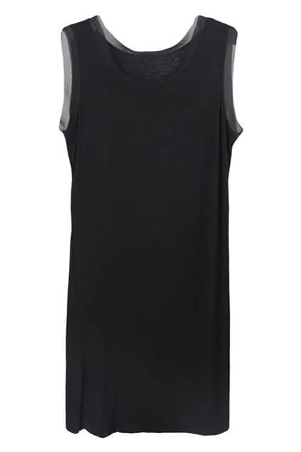 Black Sleeveless Inner Dress
