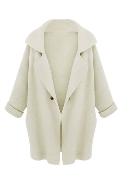 Oversized Cream Coat