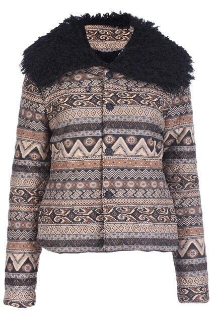 Bohemian Faux Fur Coat