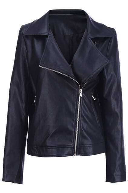 Black Leather Casual Jacket