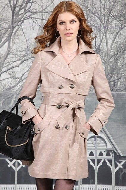 Darkstrips Double Breasted Camel Trend Coat