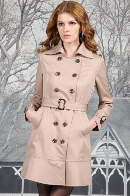 Double Breasted Middle Camel Coat