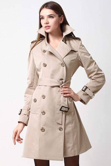 Double Beasted Apricot Coat