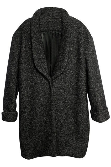 Imitation Wool Black-grey Coat