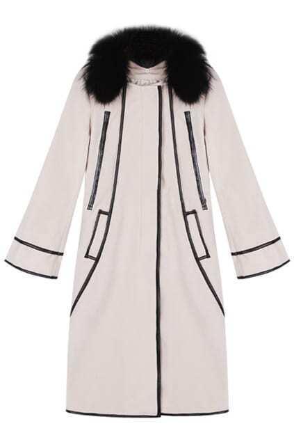 Flare Sleeves Nude Woolen Coat