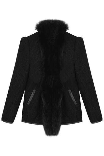 Loop Plush Black Coat