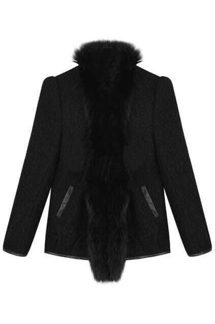 Loop Plush Black Coat