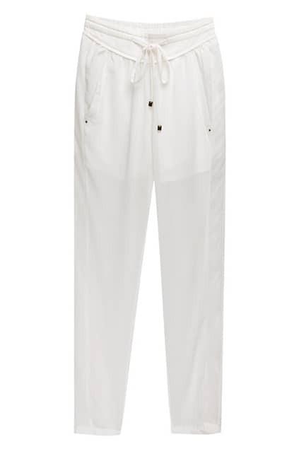 White Chiffon Harem Pants