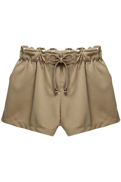 Split Side Brown Shorts
