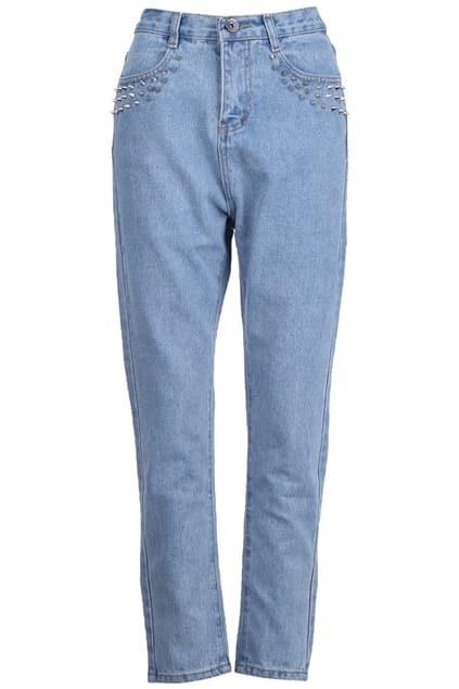 Studed Light-blue Jeans