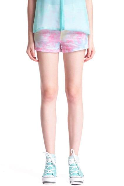 Main Pink Rolled-cuffs  Shorts