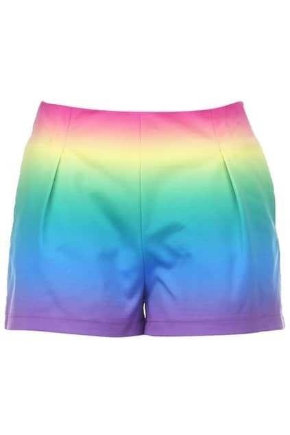 Rainbow Color Shorts