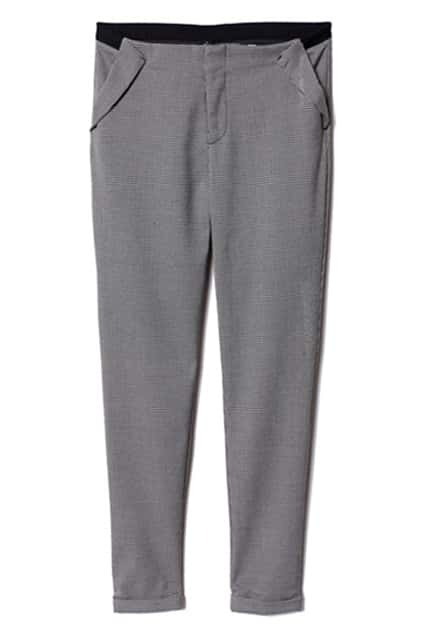 Dark Grey Stem-pipe Pants