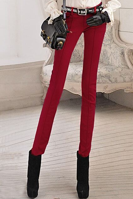 Low Waist Red Pants