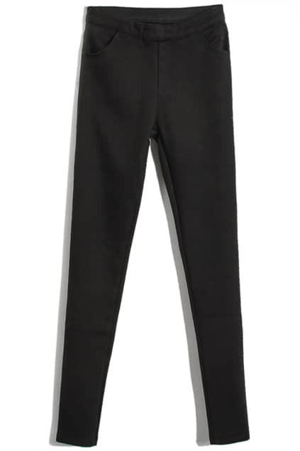 Low-waist Black Pencil Pants