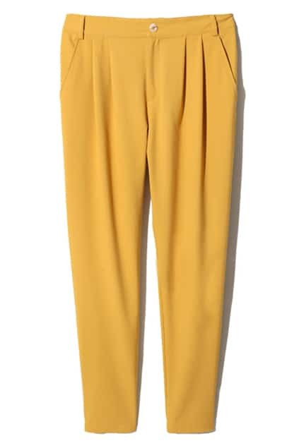 Pleated Ginger Harem Pants