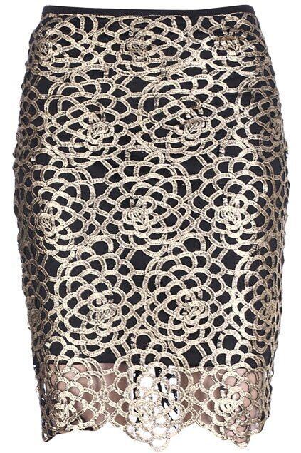 Zippered Golden Skirt