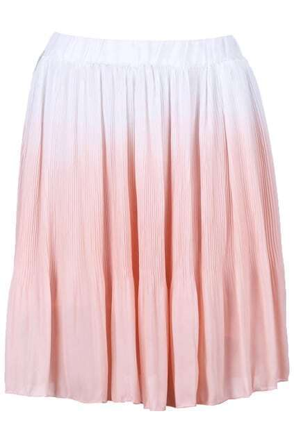 Gradient Pink Pleated Skirt