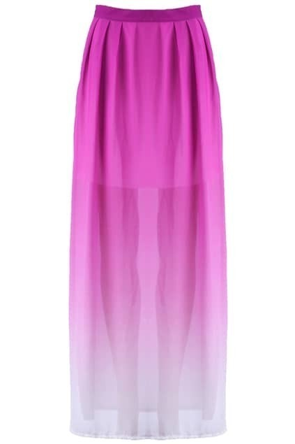 Purple Dip Dye Long Skirt
