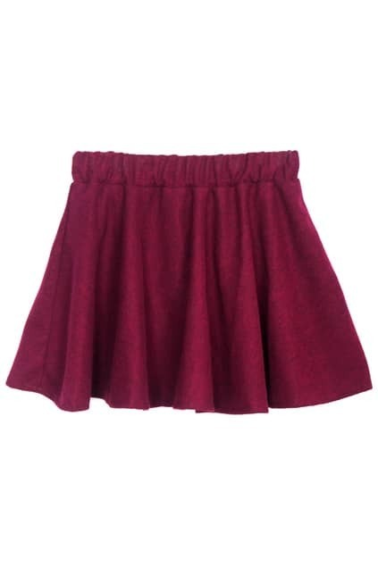 High Waist Purple-red Skirt