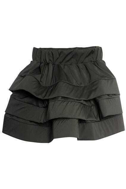 Three-layers Black Puff Skirt