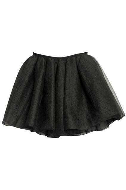 High Waist Black Skirt