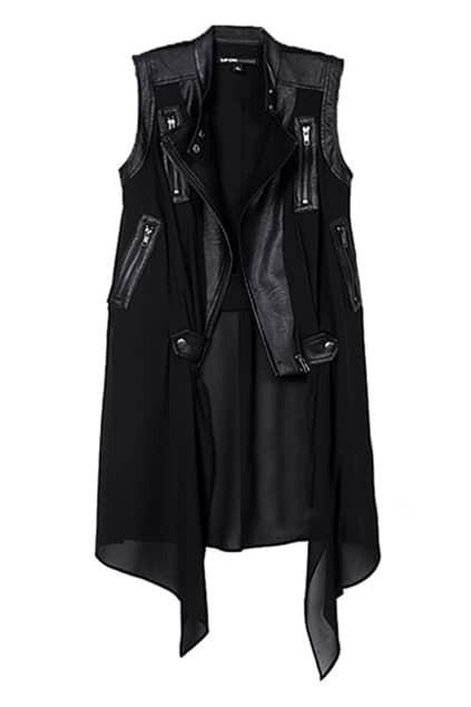 Dual-tone Zippered Sleeveless Vest
