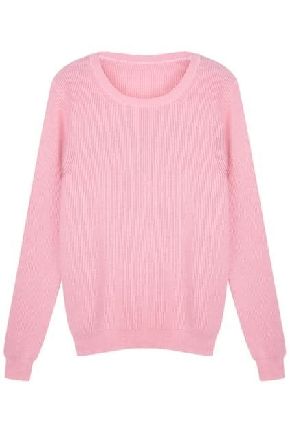 Solid Color Pink Jumper