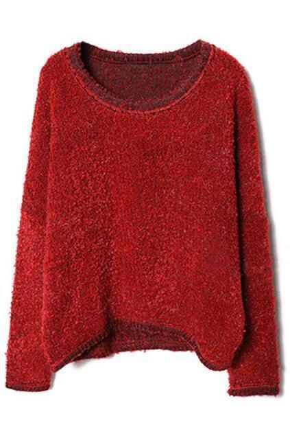 Scoop Neck Red Jumper