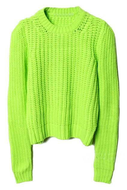 Hollow Fluorescent Green Jumper
