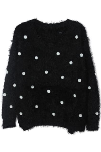 Paillette Embellished Black Jumper