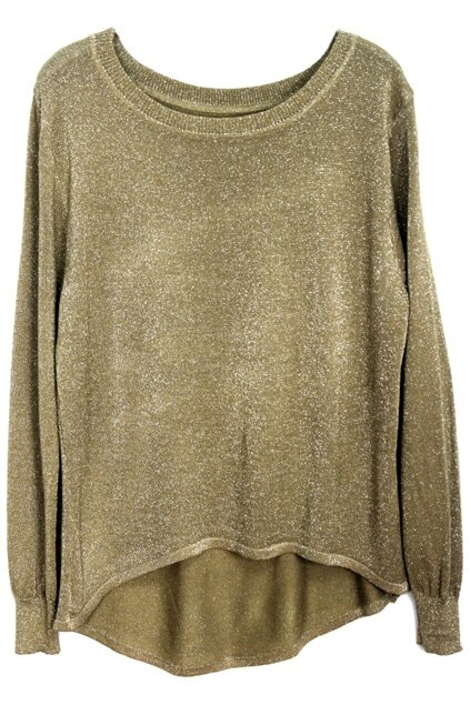 Anomalous Hem Golden Jumper