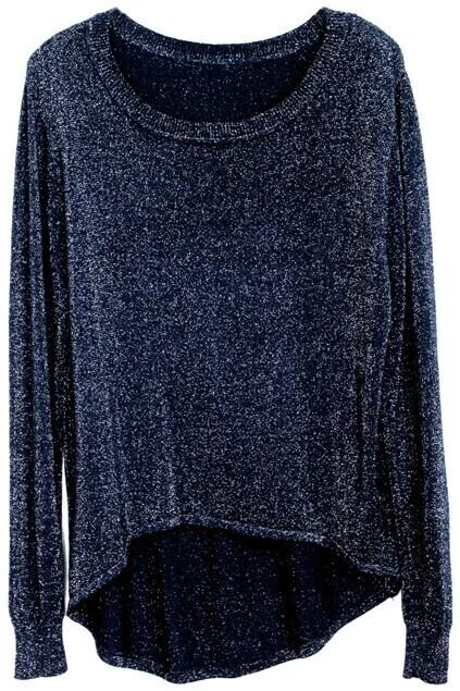 Anomalous Hem Dark-blue Jumper
