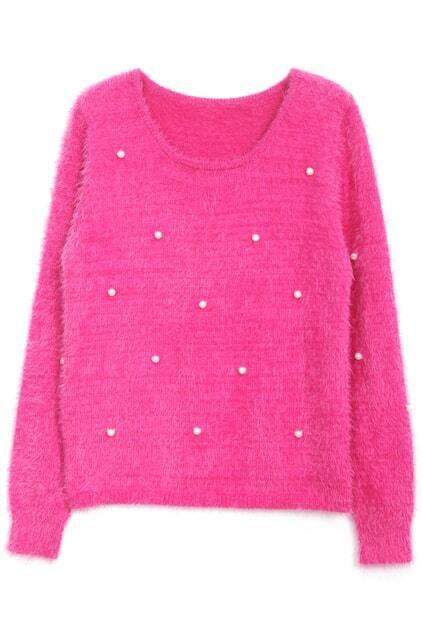 Shaggy Mohair Rose Jumper