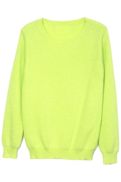 Scoop Collar Green Jumper