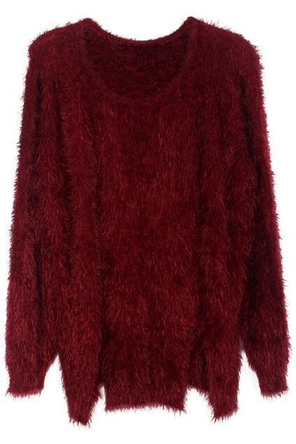 Anomalous Mohair Wine-red Jumper
