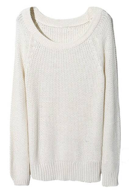 Raglan Sleeve Cream Jumper