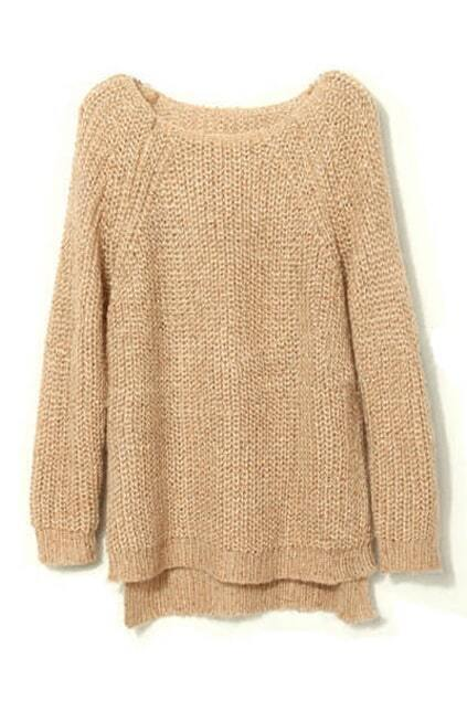 Asymmetric Sequined Apricot Jumper